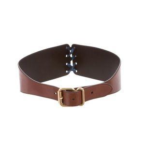 New Prada Women Leather Lace Belt